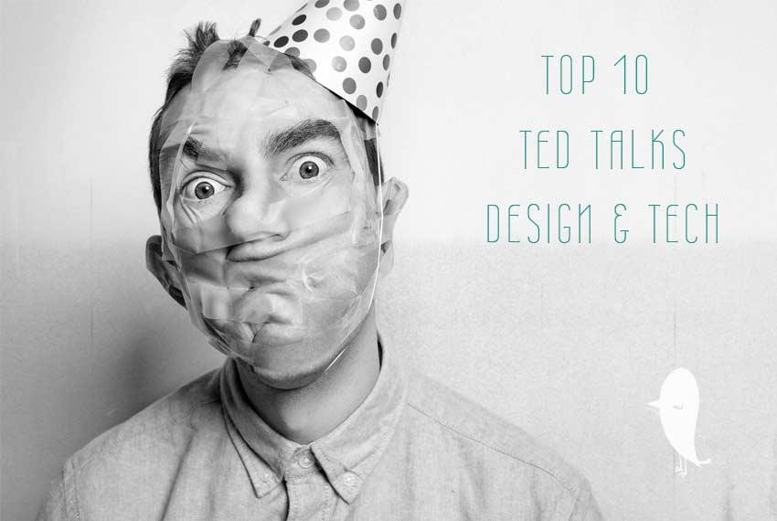 Top 10 Ted Talks Design und Tech