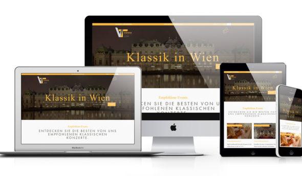 ViennaTickets im webdesign portfolio von Slidebird