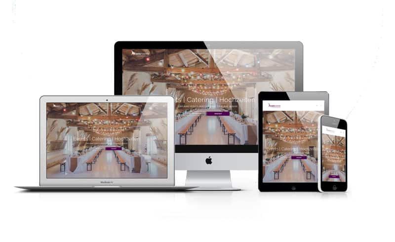 dreamevents im webdesign portfolio von Slidebird
