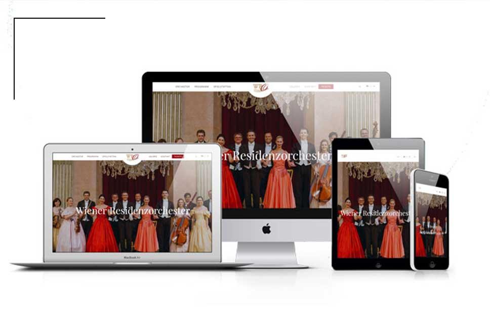 Wiener Residenzorchester als Kunde für webdesign bei Slidebird