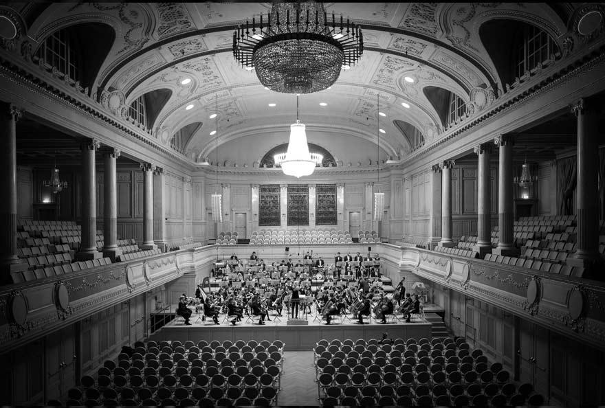 Orchester in Konzertsaal bei Probe - webdesign Wiener Residenzorchester als Kunde von slidebird