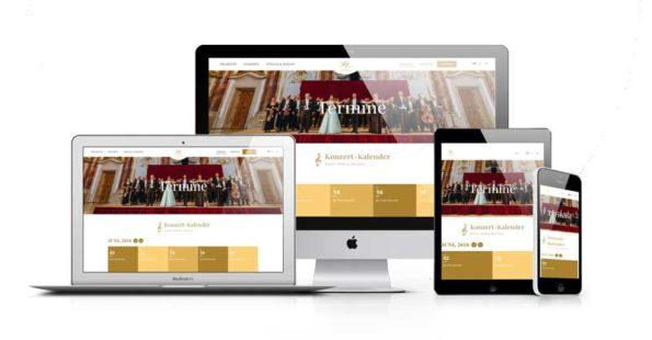 Wiener Hofburg-Orchester im webdesign portfolio von Slidebird