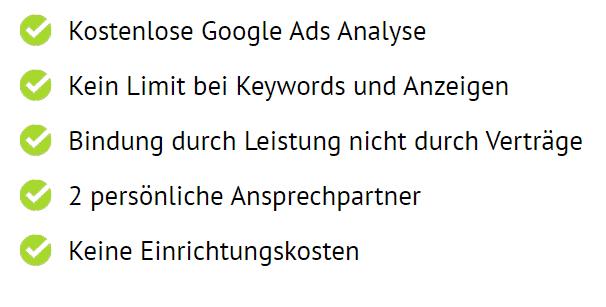 liste google ads vorteile